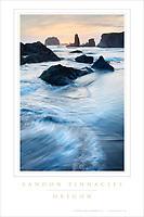 Bandon Pinnacles Oregon Poster #48481