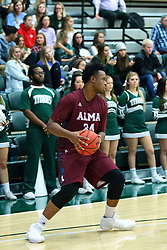 17 November 2017:  Kevin Gamble during an College men's division 3 CCIW basketball game between the Alma Scots and the Illinois Wesleyan Titans in Shirk Center, Bloomington IL