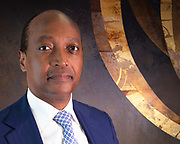 Patrice Motsepe, Chariman of African Rainbow Minerals and Owner of Mamelodi Sundowns. Portrait image by Greg Beadle