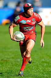 Toulon Inside Centre (#12) Matt Giteau in action during the second half of the match - Photo mandatory by-line: Rogan Thomson/JMP - Tel: Mobile: 07966 386802 21/10/2012 - SPORT - RUGBY - Cardiff Arms Park - Cardiff. Cardiff Blues v Toulon (RC Toulonnais) - Heineken Cup Round 2