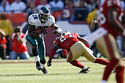 12 Oct 2008: Philadelphia Eagles running back Correll Buckhalter #28 runs the ball during the game against the San Francisco 49ers on October 12th, 2008. The Eagles won 40-26 at Candlestick Park in San Francisco, California. (Photo by Brian Garfinkel) (Photo by Brian Garfinkel)