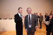 SIR NICHOLAS SEROTA; CHRIS STEVENS; CURATOR OF THE EXHIBITION,  Henry Moore, Tate Britain. London. 22 February 2010