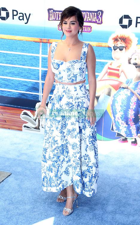 July 1, 2018 - Los Angeles, California, USA - 6/30/18.Selena Gomez at the premiere of ''Hotel Transylvania 3: Summer Vacation'' held at the Westwood Village Theatre in Los Angeles, CA. (Credit Image: © Starmax/Newscom via ZUMA Press)