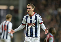Frustrated Craig Gardner of West Bromwich Albion - Mandatory byline: Alex James/JMP - 23/01/2016 - FOOTBALL - The Hawthorns - Birmingham, England - West Brom v Aston Villa - Barclays Premier League