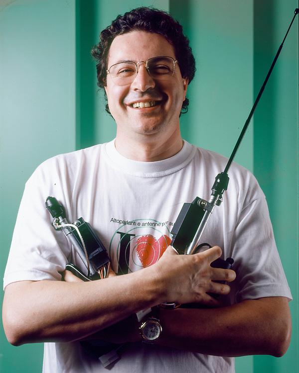28 JUN 1996 - Costabissara (VI) - Calearo Antenne: Massimo Calearo.