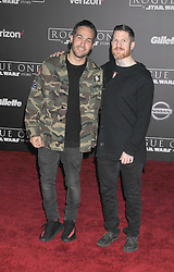 December 10, 2016 - Los Angeles, California, United States - December 10th 2016 - Los Angeles California USA - Musician  PETE WENTZ, AARON HURLEY   at the World Premiere for ''Rogue One Star Wars'' held at the Pantages Theater, Hollywood, Los Angeles  CA (Credit Image: © Paul Fenton via ZUMA Wire)