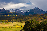 14,150 ft. Mount Sneffels and the Sneffels Range of the San Juan Mountains, Colorado.