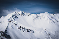 Northface of Mt Superior and Cardiac Ridge, Wasatch Range, Utah.