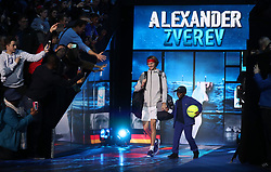 Alexander Zverev walks out during day five of the NITTO ATP World Tour Finals at the O2 Arena, London.