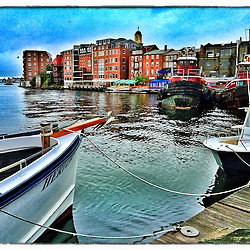 """On the waterfront in Portsmouth, New Hampshire. iPhone photo - suitable for print reproduction up to 8"""" x 12""""."""