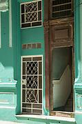 Entrance into building on city street, Havana, Cuba