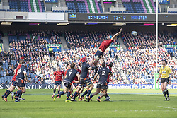 March 30, 2019 - Edinburgh, Scotland, United Kingdom - General view of Murrayfield Stadium during the Heineken Champions Cup Quarter Final match between Edinburgh Rugby and Munster Rugby at Murrayfield Stadium in Edinburgh, Scotland, United Kingdom on March 30, 2019  (Credit Image: © Andrew Surma/NurPhoto via ZUMA Press)