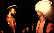 Suleiman I (1494  – September 1566) was the tenth and longest-reigning Sultan of the Ottoman Empire, from 1520 to his death in 1566. He is known in the West as Suleiman the Magnificent Portrait of Francois I and Suleiman circa 1530