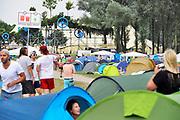 Nederland, Ewijk, 22-6-2017 Gisteren al konden festivalgangers van het festival Down the Rabbit Hole , dtrh naar binnen en hun tent opzetten. Morgen begint het driedaagse festival bij Nijmegen. . Foto: Flip Franssen