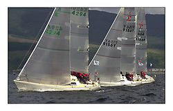 Yachting- The second start of the Bell Lawrie Scottish series 2002 at Inverkip racing to Tarbert Loch Fyne where racing continues over the weekend.<br /><br />Sigma 33's White tub K4294, Odyssey K9156Y and Squawk GBR8148R.<br /><br />Pics Marc Turner / PFM