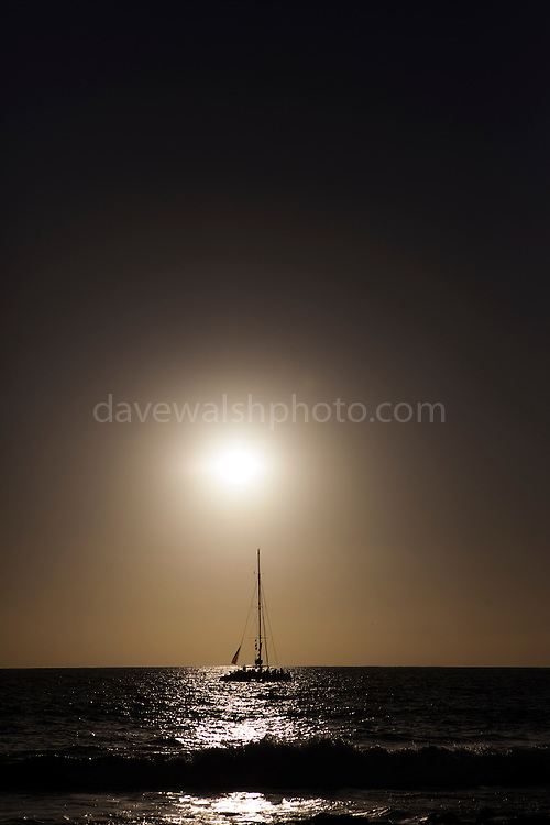 "Yacht in the sunset, Tenerife, January 29 2013 (c) Dave Walsh This mage can be licensed via Millennium Images. Contact me for more details, or email mail@milim.com For prints, contact me, or click ""add to cart"" to some standard print options."