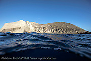 San Benedicto, a volcanic island in the Revillagigedo Archipelago, is situated roughly 220 miles from Cabo San Lucas, Mexico.