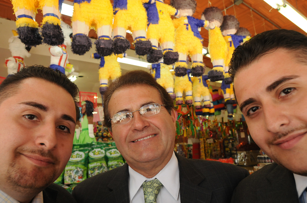 Dulcelandia candy stores owner Eduardo Rodriguez runs the eight-store sweets empire with his sons Eddie Jr. and Julio Cesar. Nearly all Dulcelandia products and candies are imported from Mexico. The business even employs 50 families there to produce original piñatas to supply the company's stores in Chicago and surrounding suburbs.