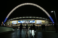 a General view of  outside Wembley Stadium before tonight's match. UEFA Champions league match, group E, Tottenham Hotspur v CSKA Moscow at Wembley Stadium in London on Wednesday 7th December 2016.<br /> pic by John Patrick Fletcher, Andrew Orchard sports photography.