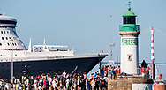 British cruise ship Queen Mary 2 before the start of The Bridge 2017, a transatlantic race between the cruise liner RMS Queen Mary 2 and the world's fastest Ultim trimarans from Saint-Nazaire to New-York City on June 25, 2017 in Saint-Nazaire, France - Photo Vincent Curutchet / Dark Frame / ProSportsImages / DPPI