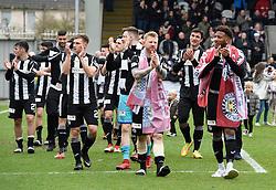 St Mirren players celebrate winning the Scottish Championship after the Ladbrokes Scottish Championship match at the Paisley 2021 Stadium.