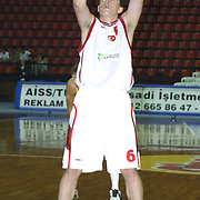 Turkish between Swede Special basketball match. Players Mirsad TURKCAN during their action Abdi Ipekci Sport Hall in ISTANBUL at TURKEY.<br /> Photo by AYKUT AKICI/TurkSporFoto