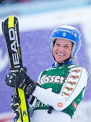 28.12.2014, Hohe Mut, Kühtai, AUT, FIS Ski Weltcup, Kühtai, Riesenslalom, Damen, Siegerehrung, im Bild Siegerin Sara Hector (SWE) // Winner Sara Hector of Sweden celebrates on Podium during the award ceremony afterLadies Giant Slalom of the Kuehtai FIS Ski Alpine World Cup at the Hohe Mut Course in Kuehtai, Austria on 2014/12/28. EXPA Pictures © 2014, PhotoCredit: EXPA/ JFK
