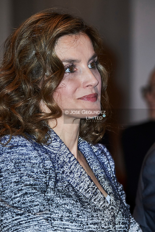 Queen Letizia of Spain attends the course 'Zero Hunger: it is possible' during Summer Course of the Complutense University of Madrid at Palacio de los Infantes on June 28, 2016 in San Lorenzo de El Escorial, Madrid