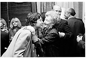 Gideon Osborne and Lady Dunnett. Osborne and Little preview new showroom. Conduit St. 7 April 1987. SUPPLIED FOR ONE-TIME USE ONLY> DO NOT ARCHIVE. © Copyright Photograph by Dafydd Jones 66 Stockwell Park Rd. London SW9 0DA Tel 020 7733 0108 www.dafjones.com
