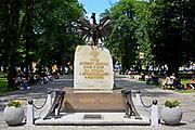 Pomnik poległych mieszkańców Ziemi Augustowskiej, Augustów, Polska<br /> Monument to the fallen inhabitants of the Augustow Region, Augustów, Poland