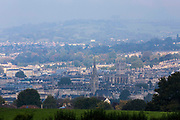 The City skyline of Bath, including the cathedral, a town set in the rolling countryside of southwest England. Known for its natural hot springs and 18th-century Georgian architecture. Bath, Somerset.