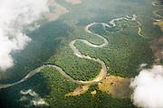 Aeriel view, Congo River.