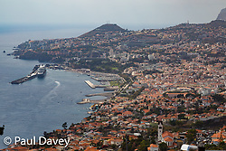 A view of Funchal, Madeira, looking West from San Gonçalo. MADEIRA, September 25 2018. © Paul Davey
