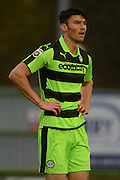 Forest Green Rovers striker Kieffer Moore (14) during the Vanarama National League match between Forest Green Rovers and Dagenham and Redbridge at the New Lawn, Forest Green, United Kingdom on 29 October 2016. Photo by Alan Franklin.