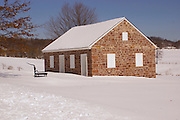 Winter Snow,  Alleghany Mennonite Meetinghouse, 39 Horning Road, Brecknock Township, Berks County, Pennsylvania.