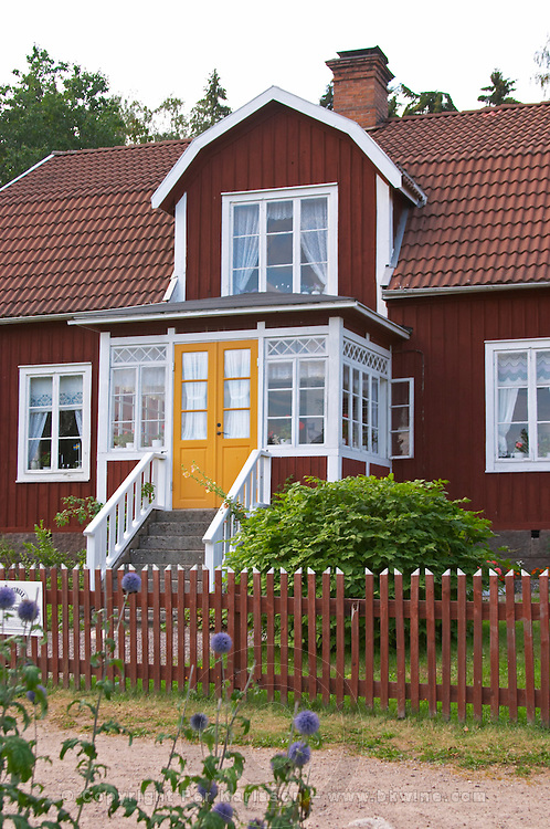 The house that Emil lived in. The original location where Astrid Lindgren's story of Emil in Lonneberga (Emil get's into mischief') was filmed. Katthult Smaland region. Sweden, Europe.