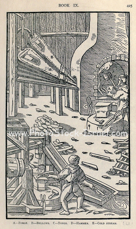 Smelting metal Georgius Agricola De re metallica, translated into English from the 1st Latin ed. of 1556, printed in London by The Mining magazine in 1912