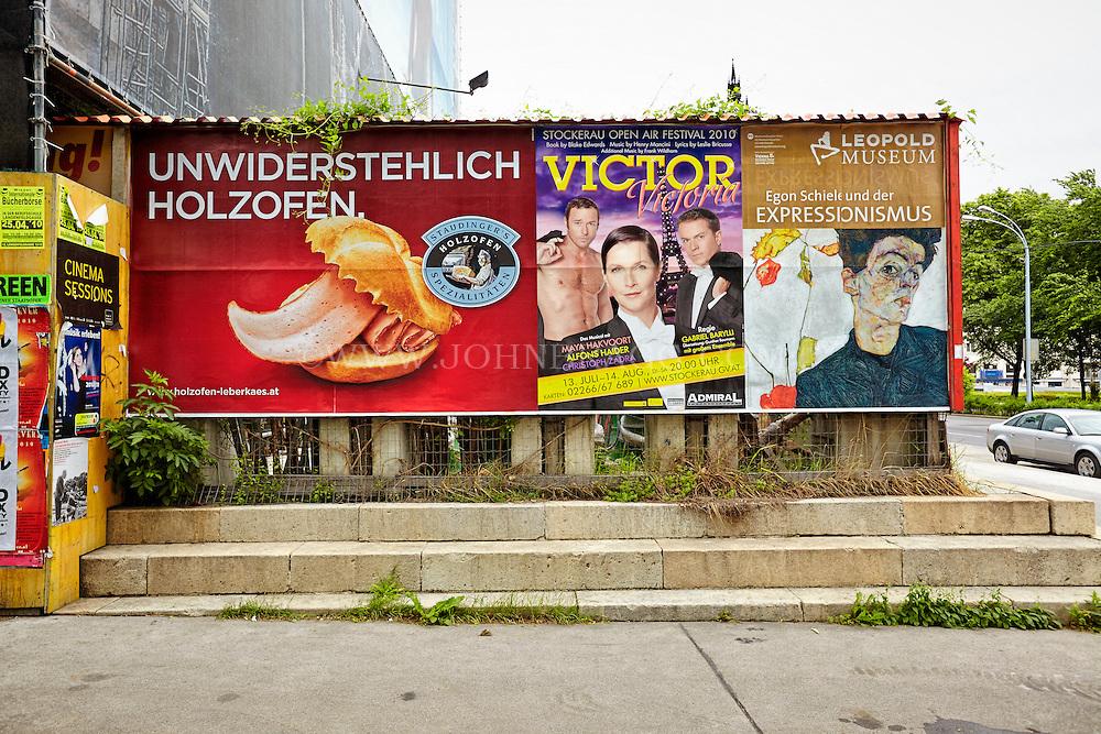 View of a German billboard, Vienna, Austria.