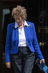 Downing Street, London, May 17th 2016. Minister of State for Foreign and Commonwealth Affairs Baroness Joyce Anelay leaves the weekly cabinet meeting in Downing Street.