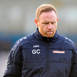 TELFORD COPYRIGHT MIKE SHERIDAN Telford boss Gavin Cowan during the Vanarama Conference North fixture between AFC Telford and Farsley Celtic at the New Bucks head Stadium on Saturday, December 7, 2019.<br /> <br /> Picture credit: Mike Sheridan/Ultrapress<br /> <br /> MS201920-033
