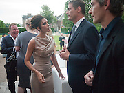 VICTORIA BECKHAM;  PHIL POPHAM; ZACH DUANE; Alexandra Shulman, Editor of Vogue & Phil Popham, Managing Director of Land Rover<br /> host the 40th Anniversary of Range Rover. The Orangery at Kensington Palace. London. 1 July 2010. -DO NOT ARCHIVE-© Copyright Photograph by Dafydd Jones. 248 Clapham Rd. London SW9 0PZ. Tel 0207 820 0771. www.dafjones.com.