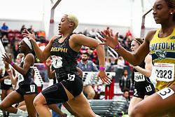 womens 60 heat 3, Kayla Little, Adelphi<br /> David Hemery Valentine Invitational<br /> Indoor Track & Field at Boston University