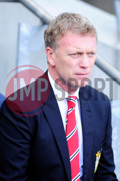 Manchester United Manager, David Moyes - Photo mandatory by-line: Dougie Allward/JMP - Tel: Mobile: 07966 386802 22/09/2013 - SPORT - FOOTBALL - City of Manchester Stadium - Manchester - Manchester City V Manchester United - Barclays Premier League