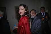 Sir Vidia and Lady Naipaul. Everyman's Centenary Party. The Fine Rooms. Royal Academy. London. 15 February 2006. dddONE TIME USE ONLY - DO NOT ARCHIVE  © Copyright Photograph by Dafydd Jones 66 Stockwell Park Rd. London SW9 0DA Tel 020 7733 0108 www.dafjones.com