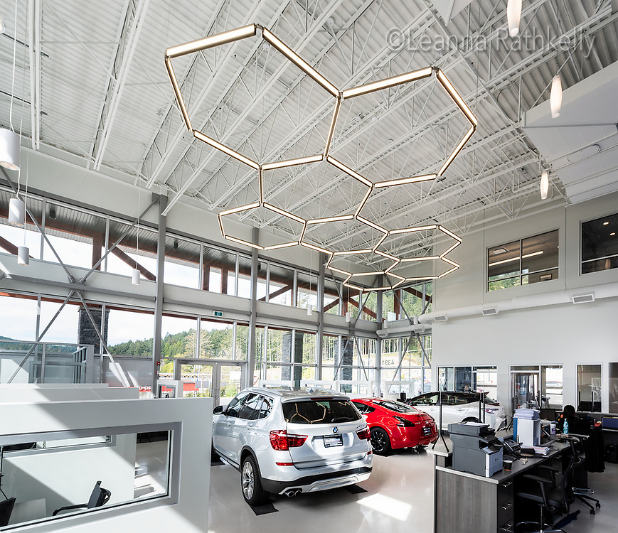 Galaxy Motors in Langford BC has a new showroom built by Scansa Construction.