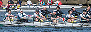 Mortlake/Chiswick, GREATER LONDON. United Kingdom. Maidenhead Rowing Club. Mx.MasE/F.8+ (E), competing in the 2017 Vesta Veterans Head of the River Race, The Championship Course, Putney to Mortlake on the River Thames.<br /> <br /> <br /> Sunday  26/03/2017<br /> <br /> [Mandatory Credit; Peter SPURRIER/Intersport Images]
