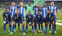 Cape Town-180519 Maritzburg United  starting line up at at Cape Town stadium  where the Nedbank final is hosted .photograph:Phando Jikelo/African News Agency/ANA