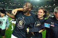 FOOTBALL - FRENCH CHAMPIONSHIP 2008/2009 - L1 - SM CAEN v FC GIRONDINS BORDEAUX - 30/05/2009 - <br /> <br /> FERNANDO CAVENAGHI / SOULEYMANE DIAWARA       <br /> Norway only