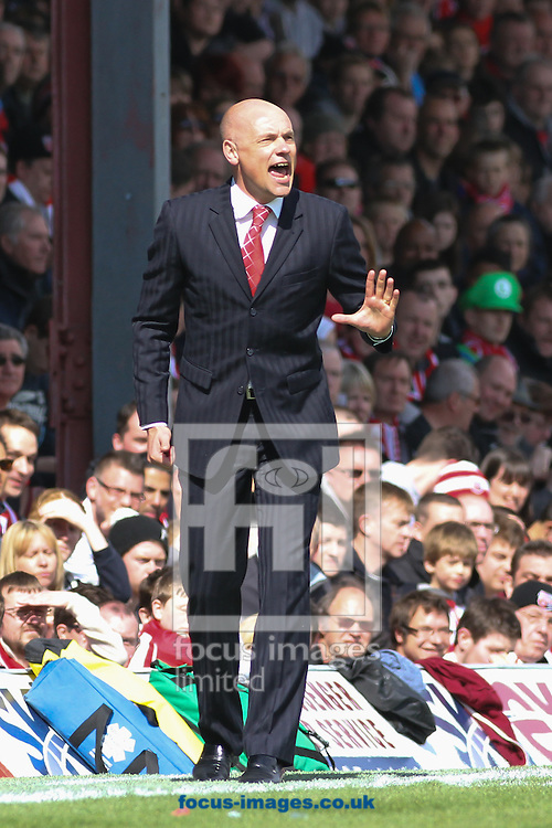 Picture by David Horn/Focus Images Ltd +44 7545 970036.27/04/2013.Uwe Rosler , Manager of Brentford during the npower League 1 match at Griffin Park, London.