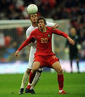 England U21/Portugal U21 European Under 21 Championship 14.11.09 <br /> Photo: Tim Parker Fotosports International<br /> Tiago Cintra Portugal Under 21's 2009/10